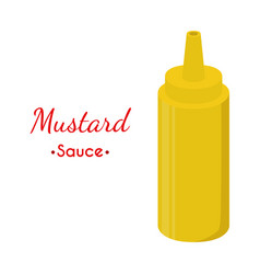 mustard sauce bottle cartoon flat style vector image