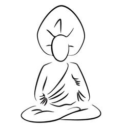 Sitting Buddha vector image