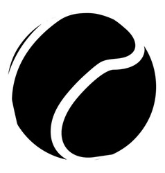 tennis ball icon simple black style vector image