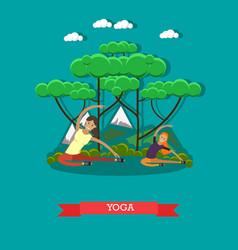 yoga for pregnant women concept vector image
