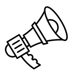 alert bullhorn icon outline style vector image