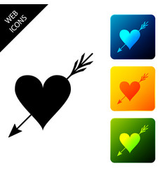 amour symbol with heart and arrow icon isolated on vector image