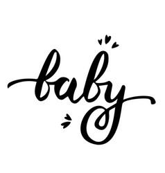 Baby handwritten poster ink vector