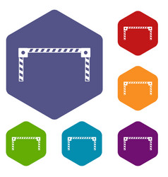 Barrier icons set vector