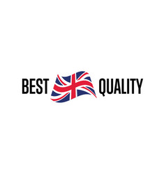 best quality isolated label for england products vector image