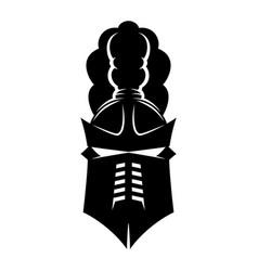 Black knights helmet vector