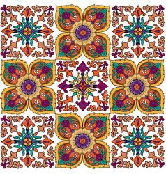 bright multicolor floral ornament white background vector image