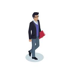 businessman manager closeup vector image