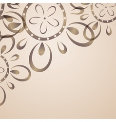 Card design with flower pattern vector image