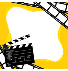 clapboard for cinema vector image