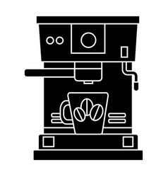 coffee machine with coffee cup icon vector image