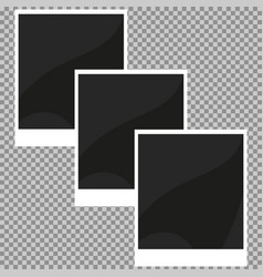 collection of blank retro photo frames vector image