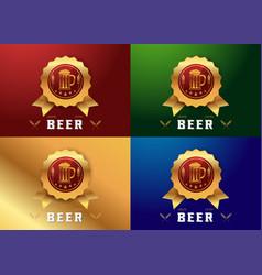 Craft beer logo vector