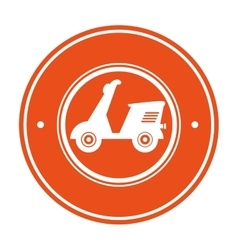 Delivery motorcycle service icon vector