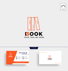 Education book library logo template icon element vector