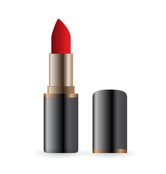 example for advertising bright red lipstick image vector image