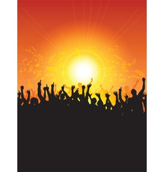 excited audience vector image