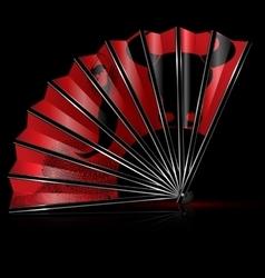 Fan flamenco dance vector