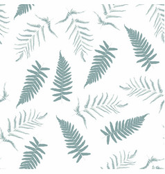fern tropical forest mint colors plant leaves vector image