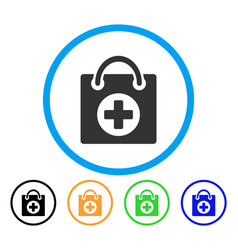 first aid rounded icon vector image