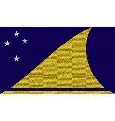 Flags Tokelau on denim texture vector image