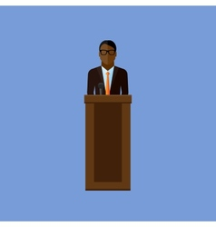 Flat of a speaker politician vector