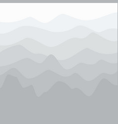 Fog in the mountains vector