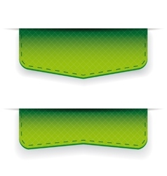 Green ribbon set vector