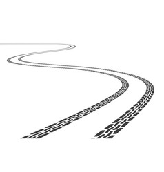grunge tire tracks vector image