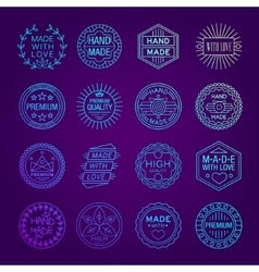 Handmade Emblems Linear Set vector image