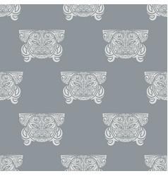 Hawaii wood idol pattern seamless repeat vector