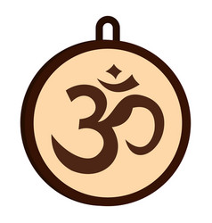 Hindu om symbol icon isolated vector