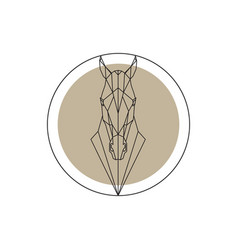 Horse head geometric silhouette isolated vector