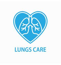 human lungs icon asthma pneumonia respiratory vector image