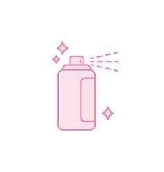Isolated hair spray icon fill design vector