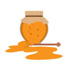 isolated honey jar icon vector image