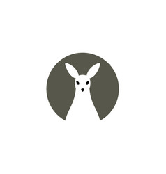 Kangaroo logo symbol icon element vector