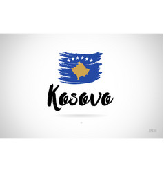 Kosovo country flag concept with grunge design vector