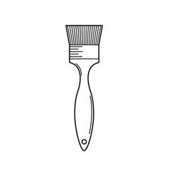 Line brush made of artificial bristle icon vector