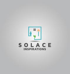 Logo design for real estate interior vector