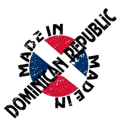 Made in Dominican Republic vector image