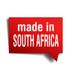 Made in south africa red 3d realistic speech vector