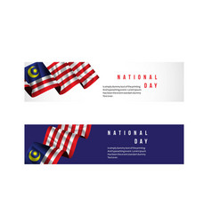Malaysia national day template design vector