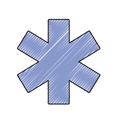 Medical star of life vector