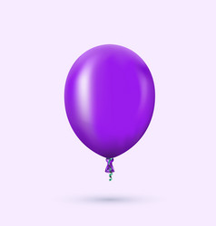 Modern glossy helium balloon for birthday vector