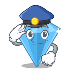 Police sapphire gems isolated in character vector