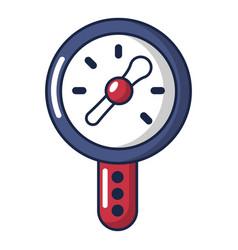Pressure indicator icon cartoon style vector