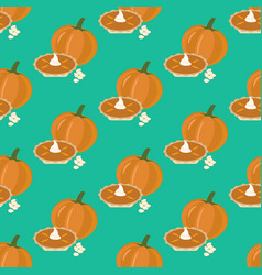 Pumpkin pie seamless pattern vector
