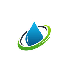 Pure water iconic logo designs concept vector