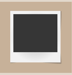 Realistic photo frame isolated on beige vector